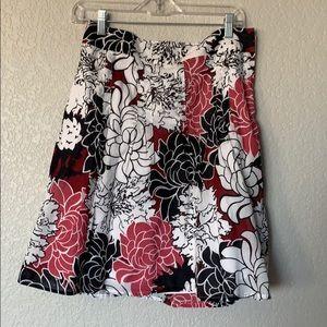EUC Ann Taylor floral print skirt